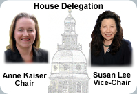 Chair and Vice-Chair of Montgomer county House Delegation